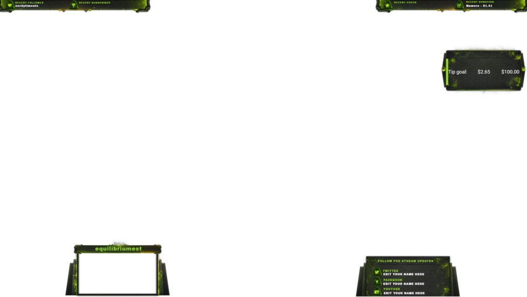 Example of Twitch Overlay Maker - Default Ingame Overlay