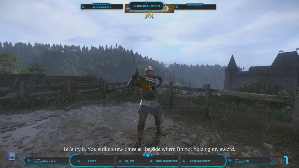 Example of Twitch overlay